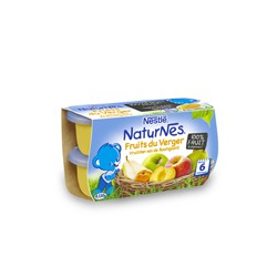 Compote fruits du verger Nestlé 4 X 130g (6 mois et +)