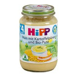 Hipp purée de mais et Dinde Bio 190g x6