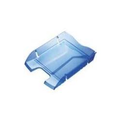 Corbeille à courrier bleu transparent