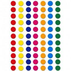 Gommettes couleurs 8mm assorti - paquet de 320