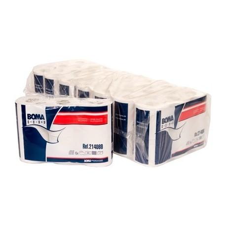 Papier toilette 2 plis Blanc x 6