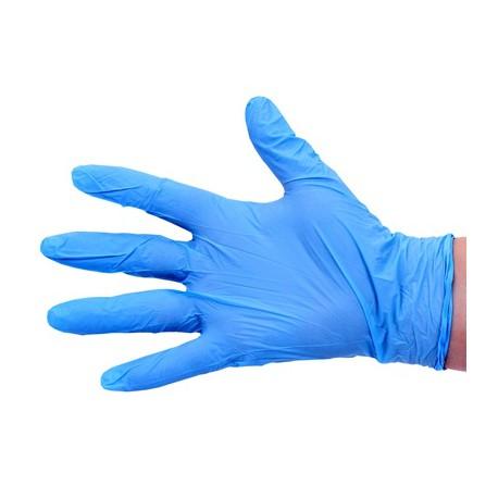 Gant à usage unique en nitrile bleu. Taille Large