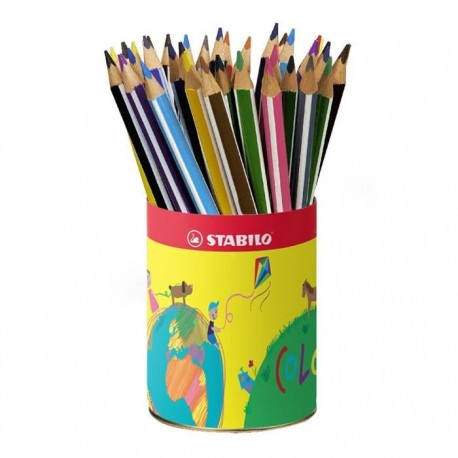 Crayons de couleur Stabilo - Pot de 38 crayons