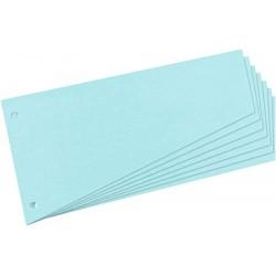 Intercalaires trapézoïdaux carton 190g bleu - paquet de 100