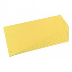 Intercalaires trapézoïdaux carton 190g jaune -paquet de 100