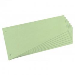 Intercalaires trapézoïdaux carton 190g vert - paquet de 100