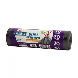 Sacs poubelle 30L Elembal Ultra resist - x20