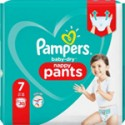 Couches Pampers Baby-Dry Pants 17kg et + taille 7 x30