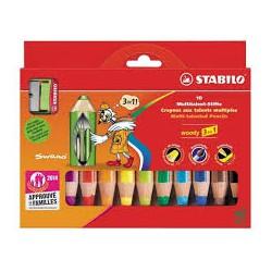 Crayon de couleur woody 3 en 1 STABILO