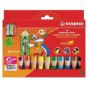 Crayon de couleur woody 3 en 1 STABILO - pack de 10
