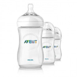 Lot de 3 Biberons Natural- Avent 260ml