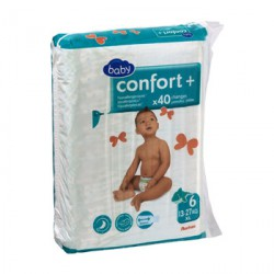 Couche confort + 13-27 kg x 40 - Taille 6
